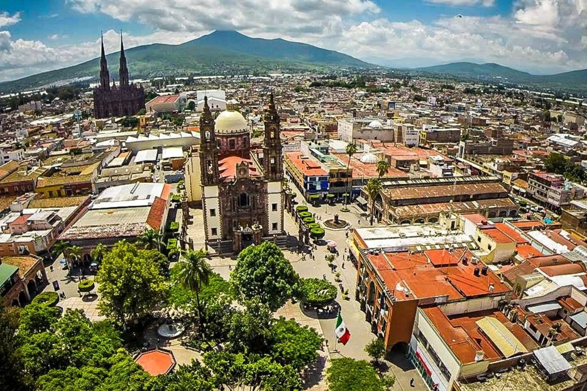 Vista aérea de la Diócesis de Zamora, en Michoacán, México. Foto: Jaime Ramos Méndez/Blogspot