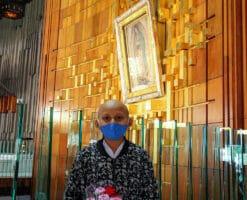 Viajó 1,600 km para cumplir su sueño de visitar a la Virgen de Guadalupe
