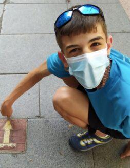 Este joven con discapacidad peregrina 120 km por amor a Dios y la Virgen
