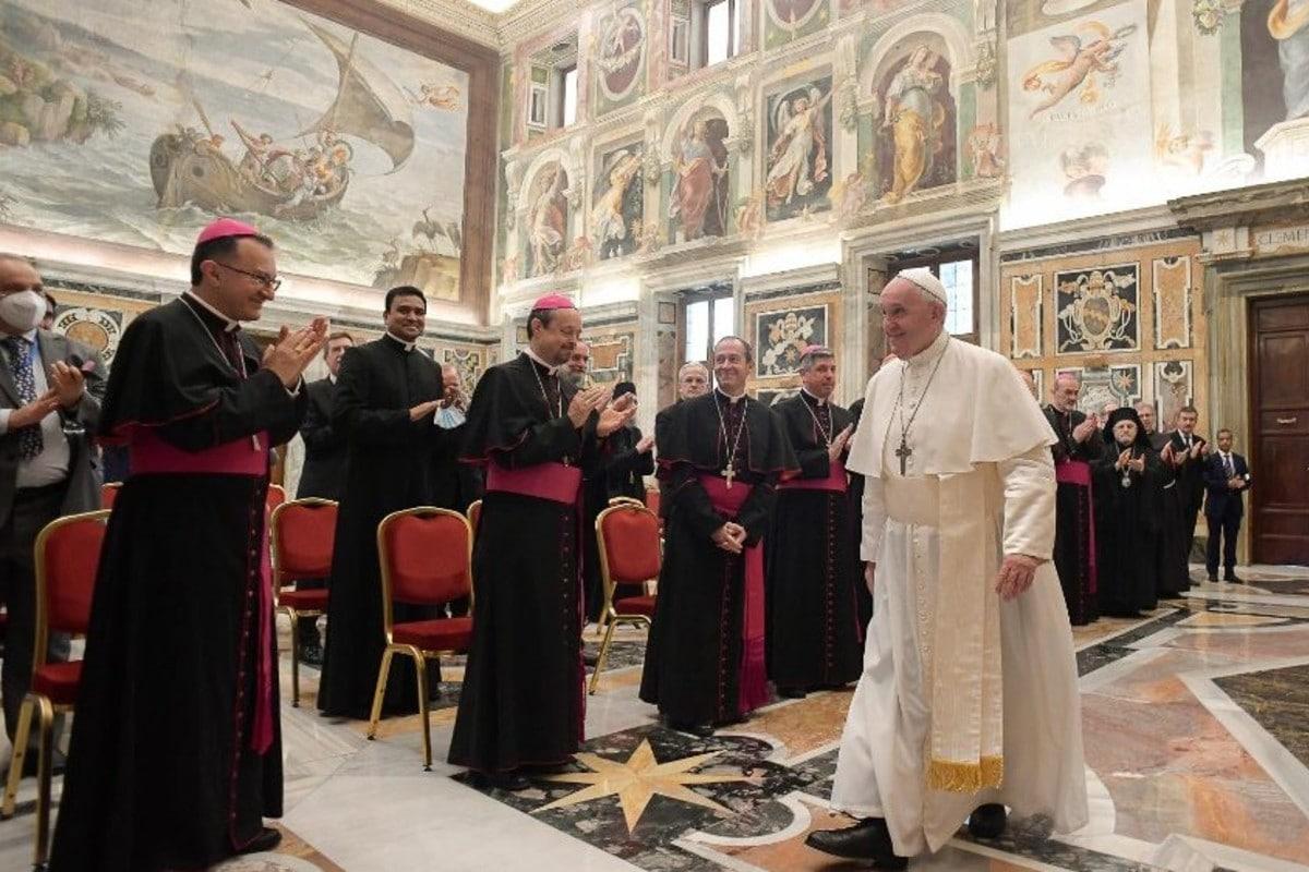 El Papa Francisco en audiencia. Foto: Vatican Media.
