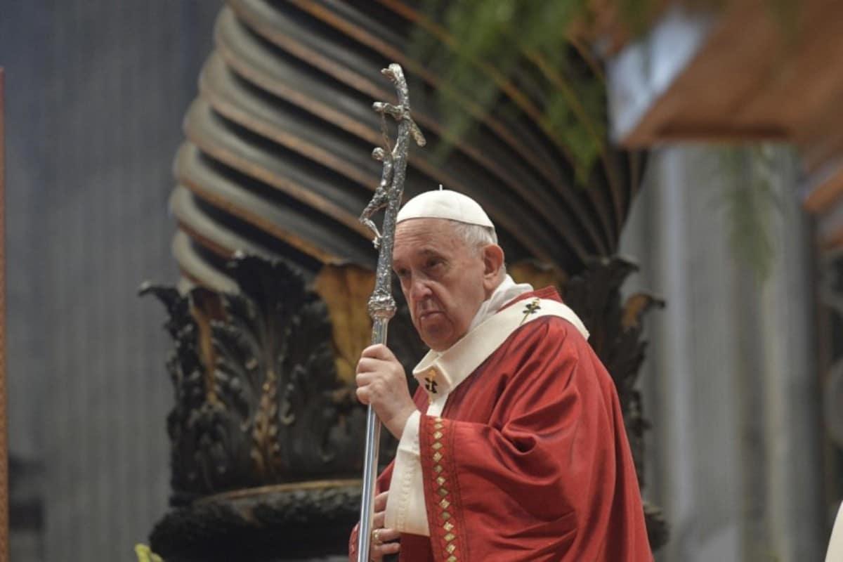 El papa Francisco en la Solemnidad de los apóstoles San Pedro y San Pablo. Foto: Vatican Media.