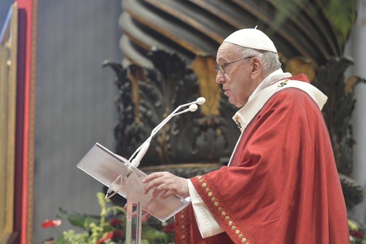 El Papa Francisco en su homilía de la Solemnidad de San Pedro y San Pablo. Foto. Vatican Media.