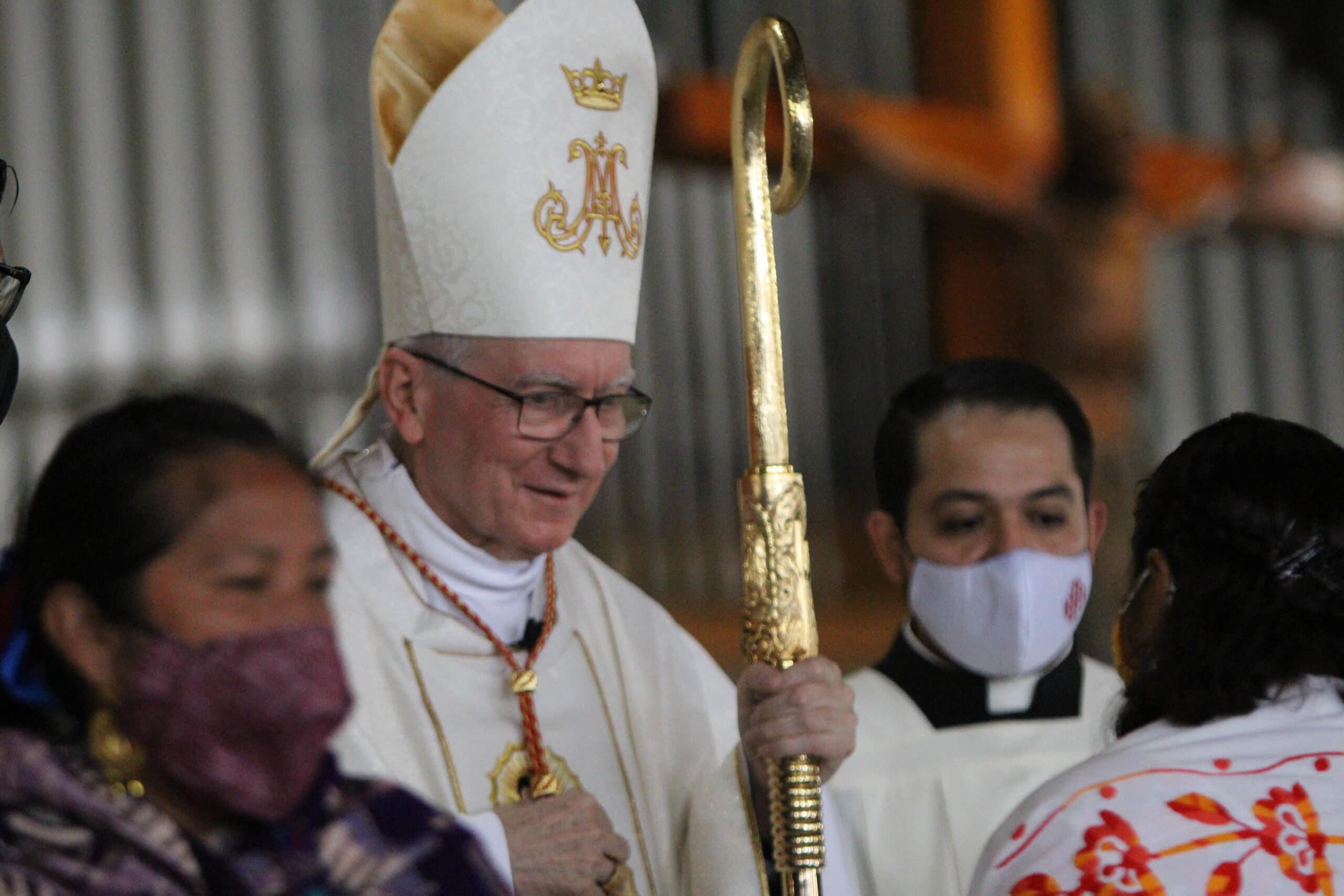 El Card. Pietro Parolin en la Misa en Basílica de Guadalupe. Foto: INBG/Cortesía.