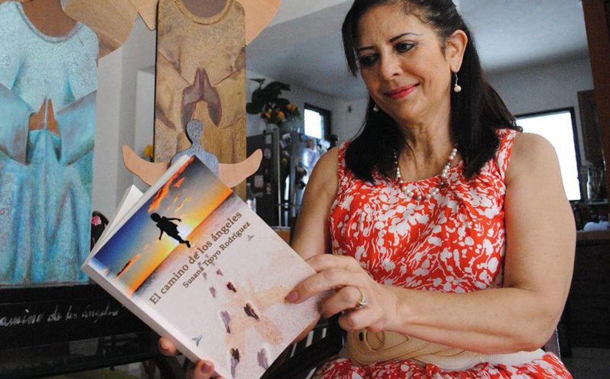 """Susana Troyo, autora de """"El camino de los ángeles""""."""