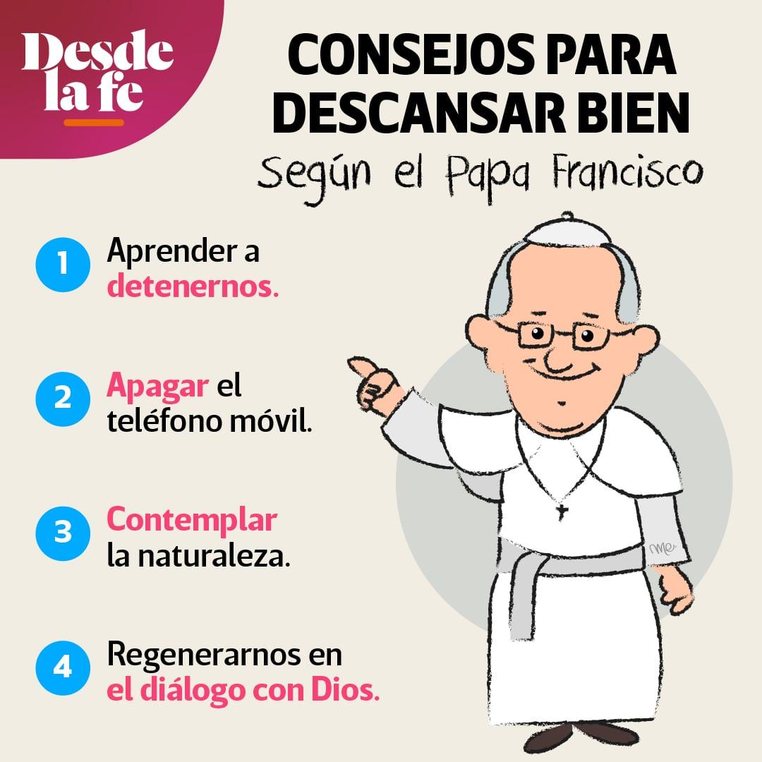 Consejos para descansar bien, de acuerdo con el Papa Francisco.