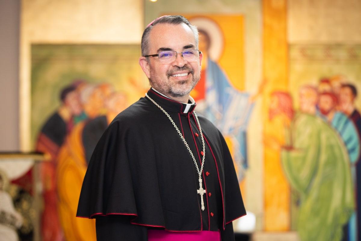 Mons. Andrés Luis García Jasso, Obispo Auxiliar de la Arquidiócesis Primada de México. Foto: María Langarica