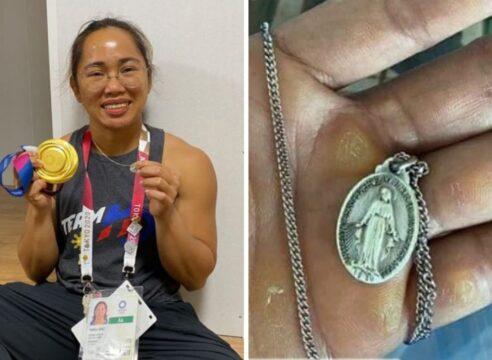 Levantó dos medallas: el primer oro para Filipinas y una de la Virgen María