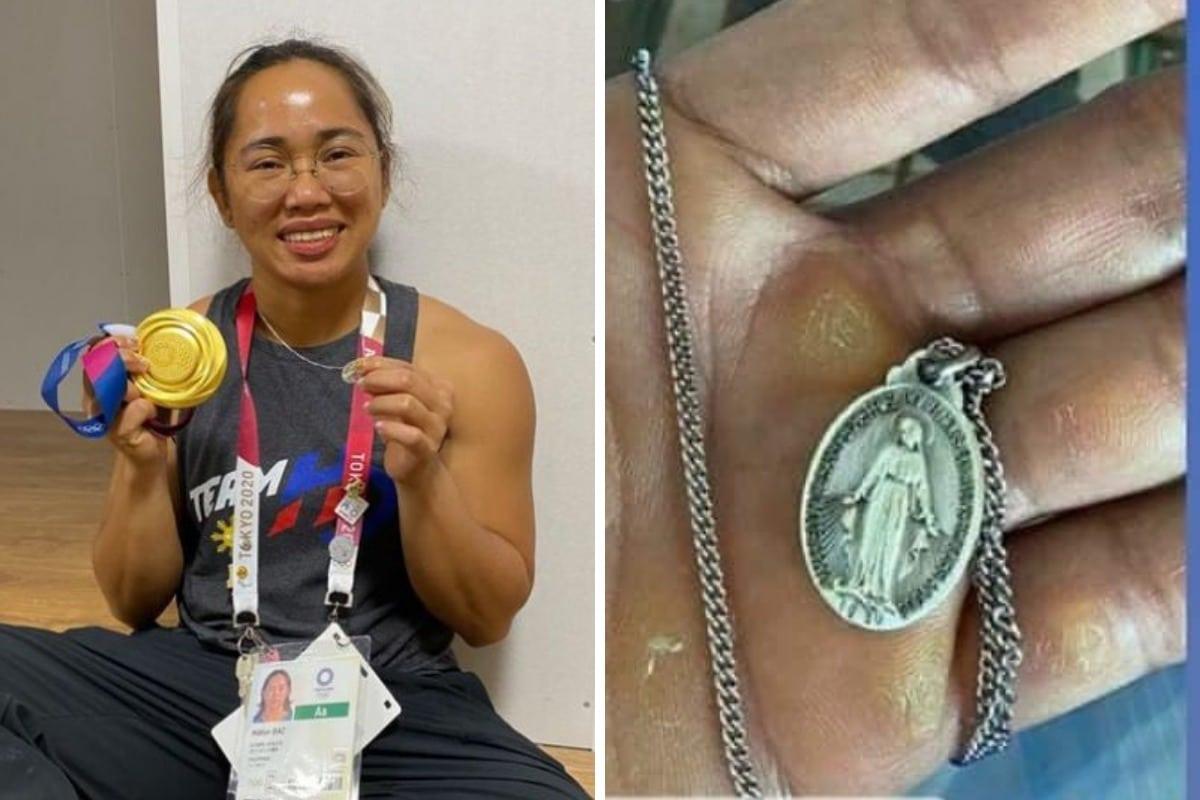 Hidilyn Díaz mostró su fe al ganar el primer oro para Filipinas.