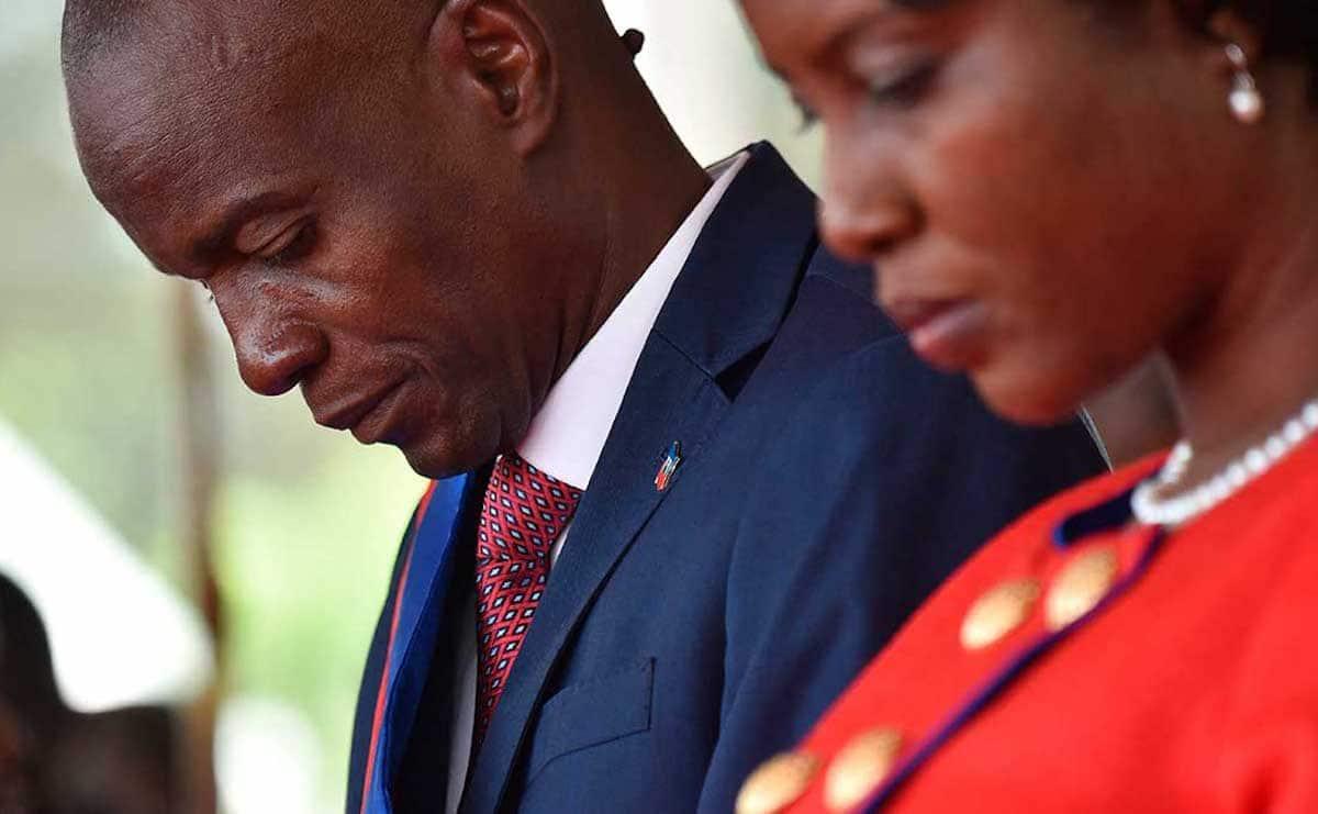 El presidente de Haití, Jovenel Moïse y su esposa, la Primera Dama Martine Moïse. Foto: Agencias
