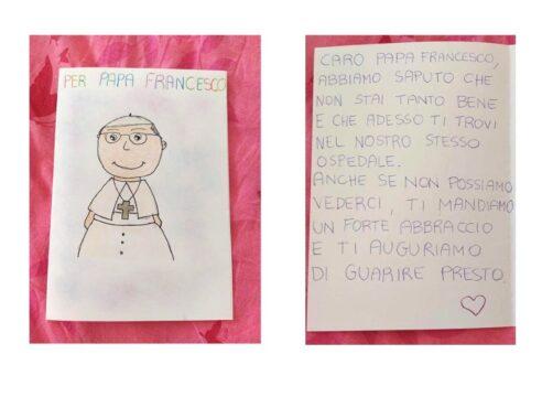 Niños con cáncer sorprenden al Papa con esta tierna carta en el hospital