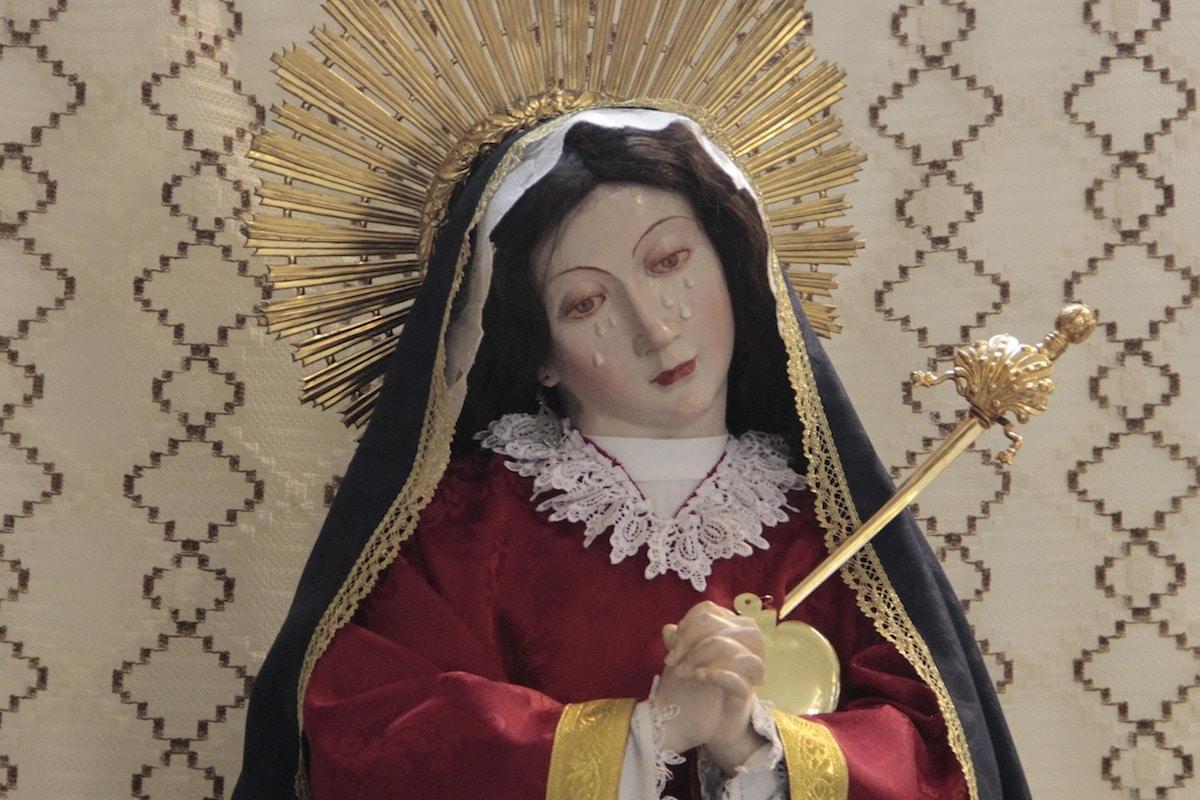 La advocación de la Virgen Dolorosa, se le atribuyó el nombre de Nuestra Señora de las Aguas. Foto: Alex García/DLF