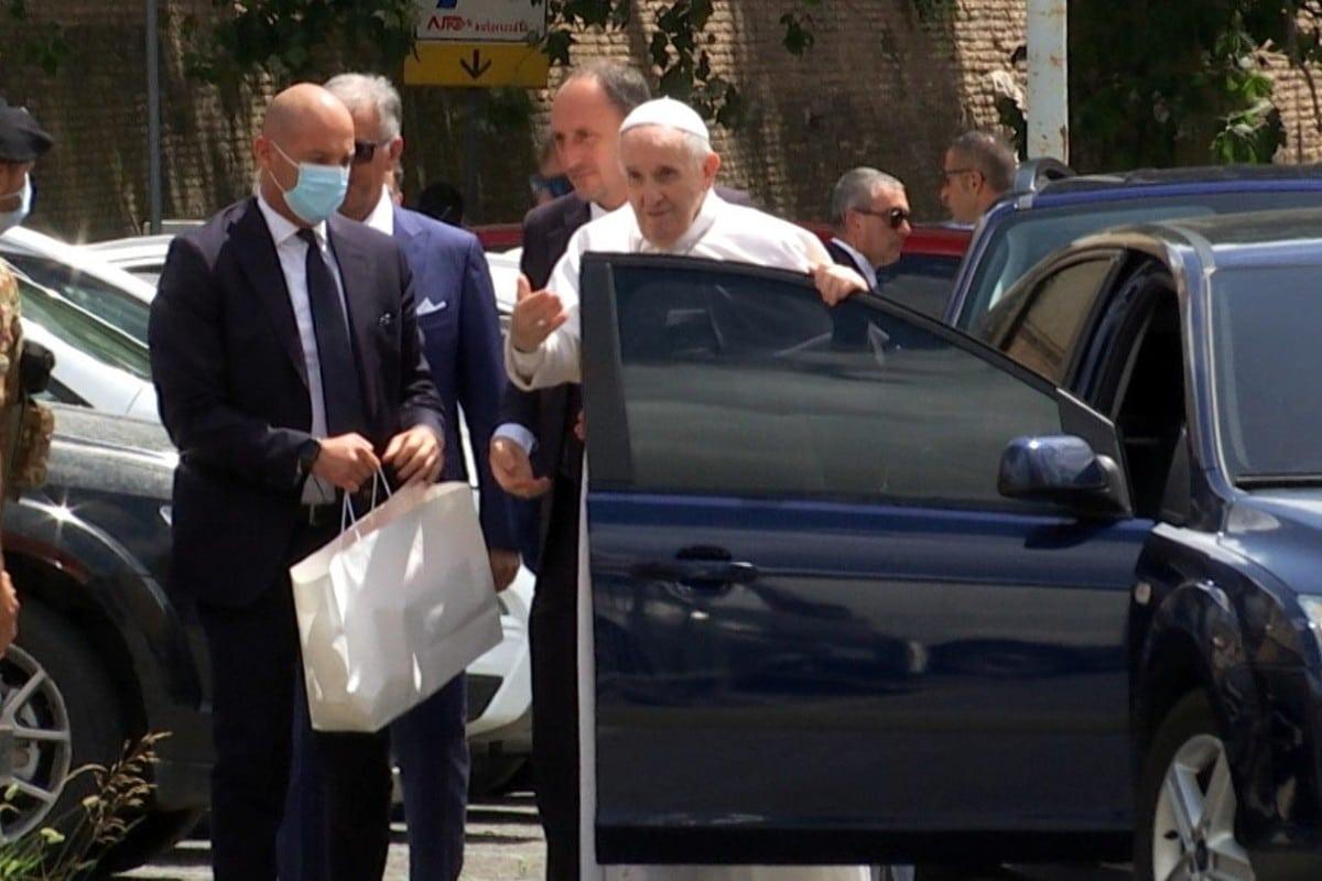 El Papa Francisco salió el hospital. Foto: Vatican Media.