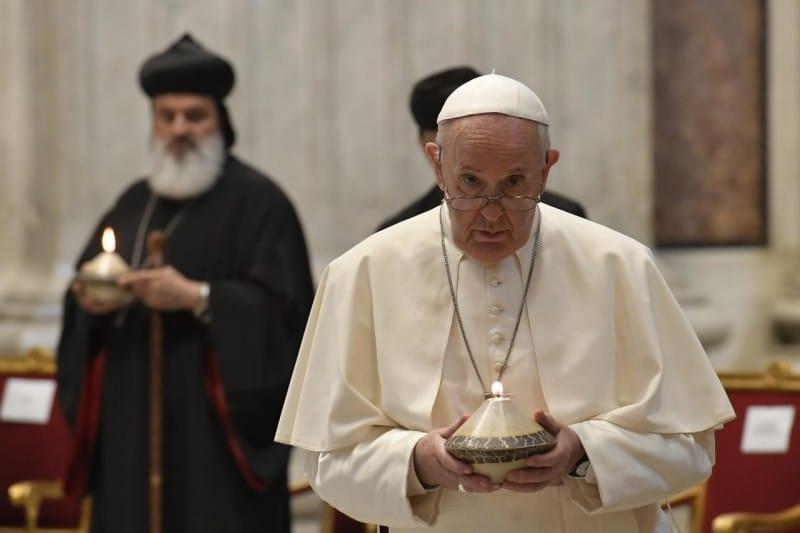 El Papa Francisco en la Jornada de Oración por Líbano. Foto: Vatican Media.