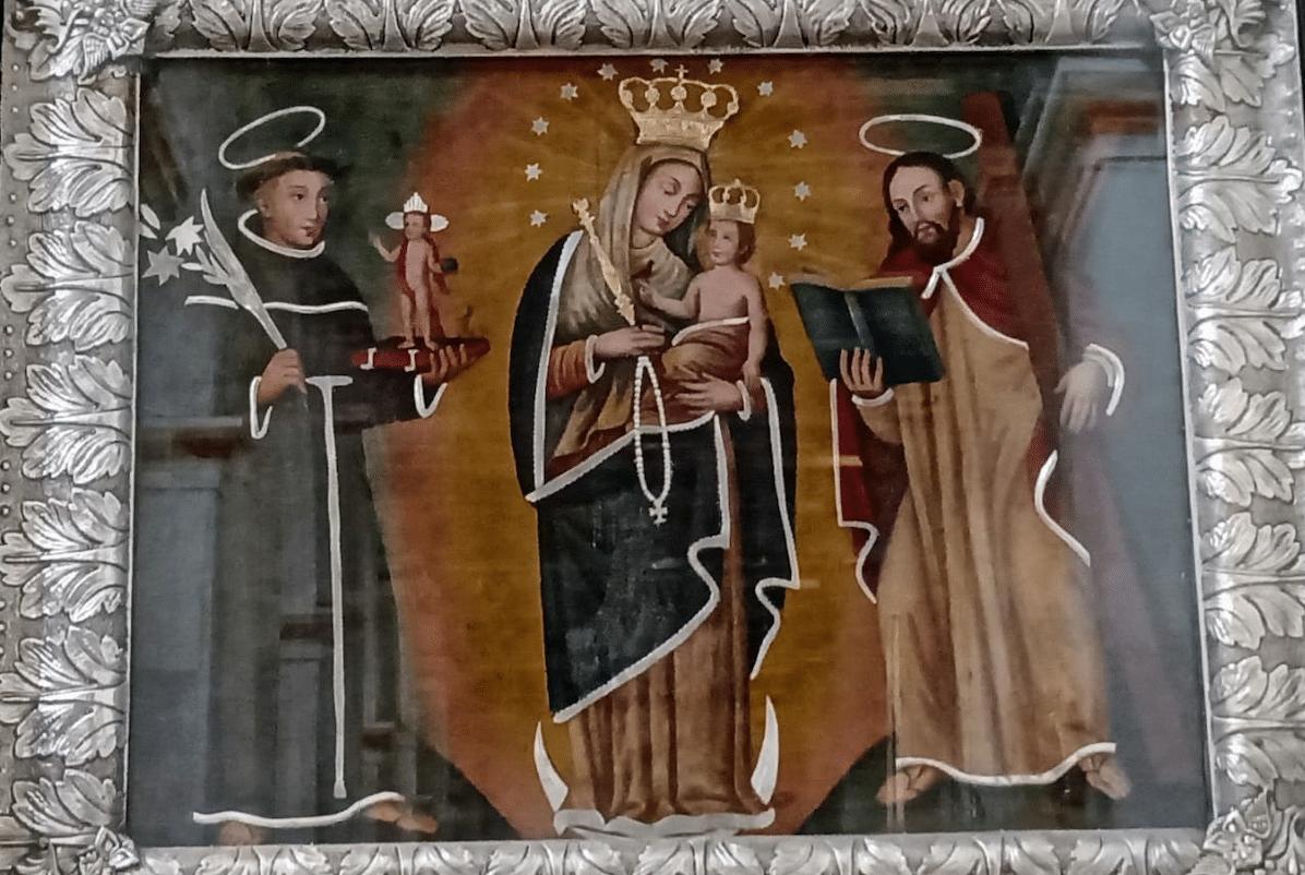 Pintura de la Virgen de Chiquinquirá.