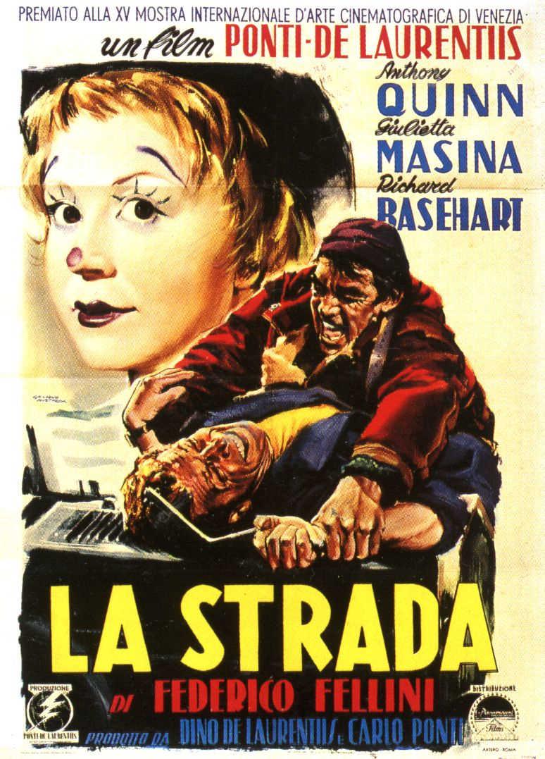 Poster de La Strada, de Federico Fellini.