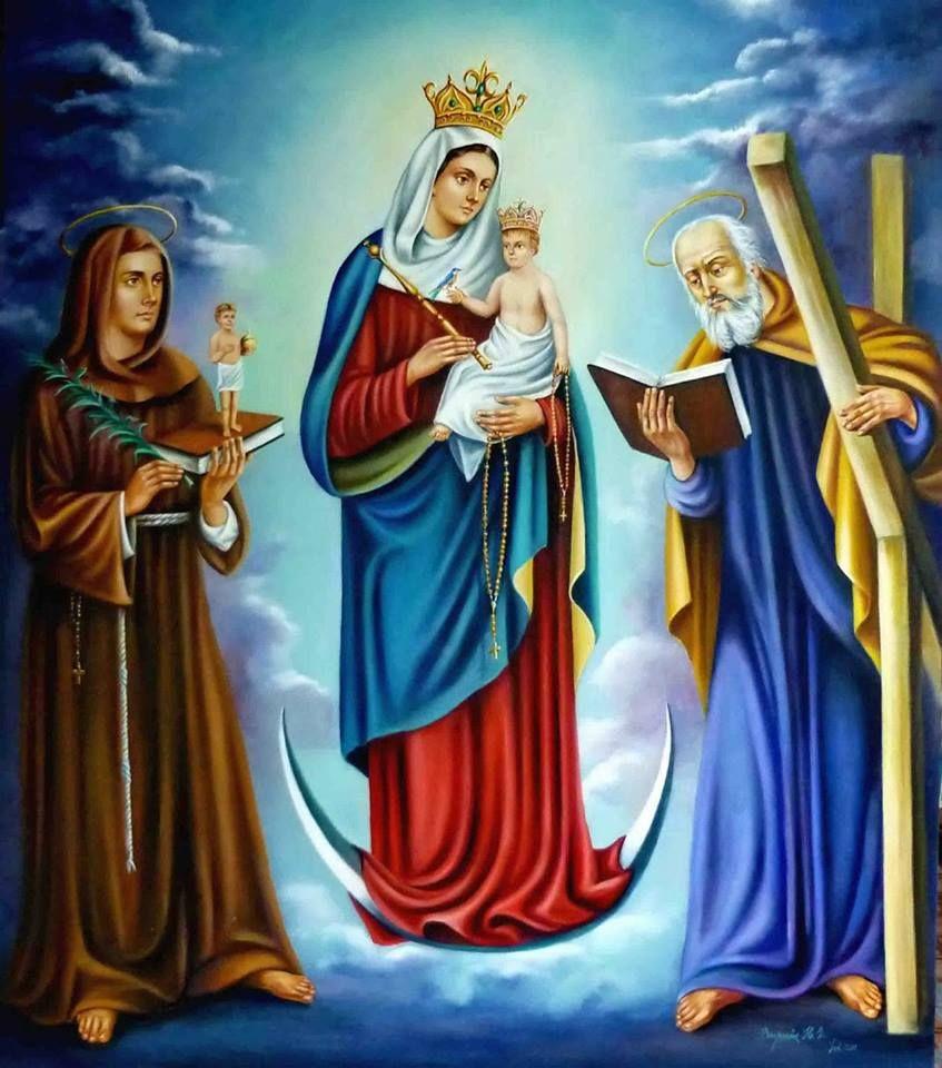 La Virgen de Chiquinquirá.