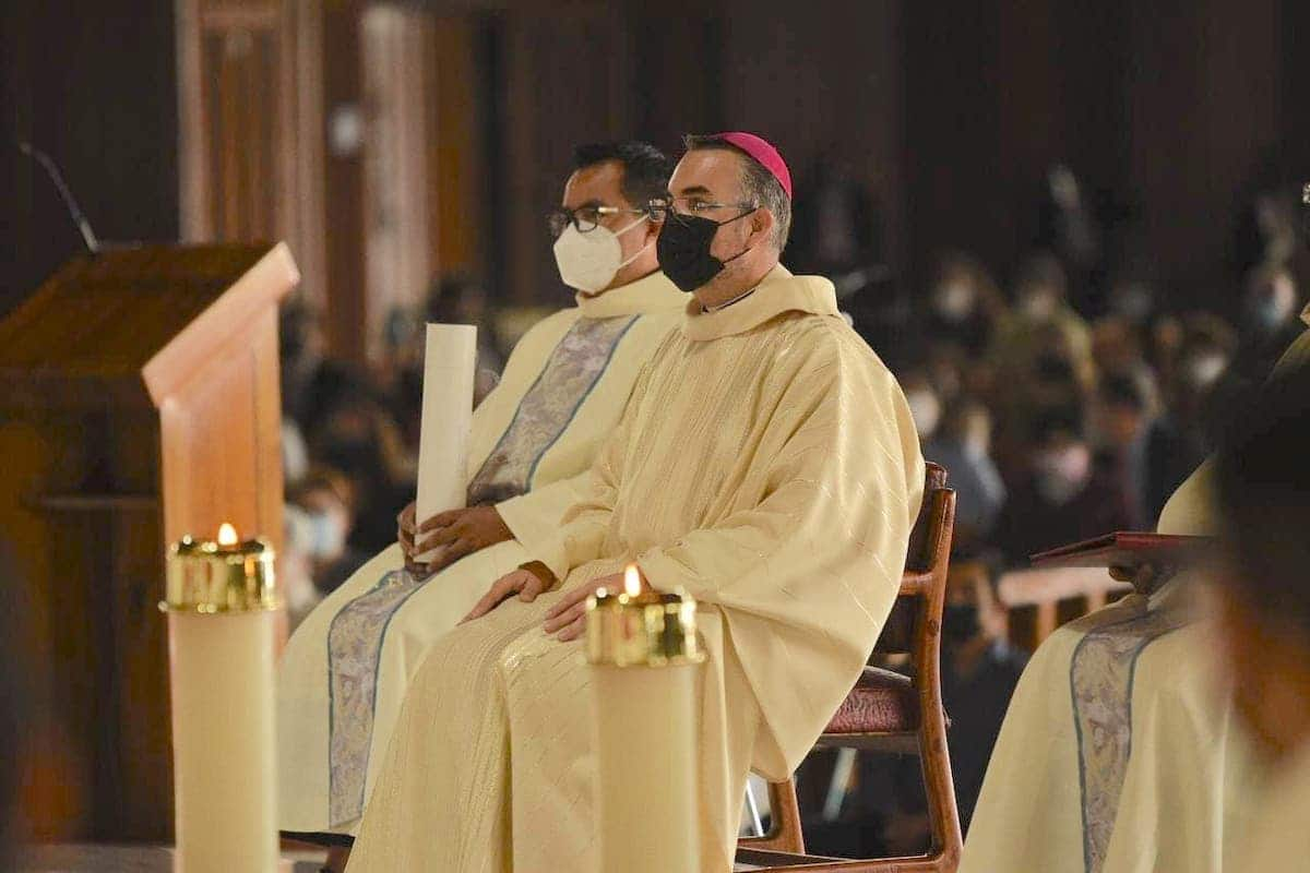 Mons. Andrés Luis García Jasso en su ordenación episcopal. Foto: Jonathan Oregon