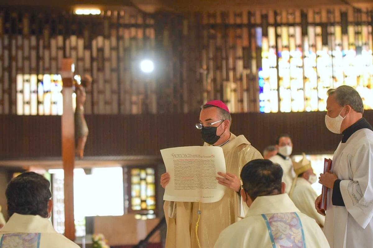 Mons. Andrés Luis García Jasso fue ordenado obispo en la fiesta de San Bartolomé apóstol. Foto: Jonathan Oregon
