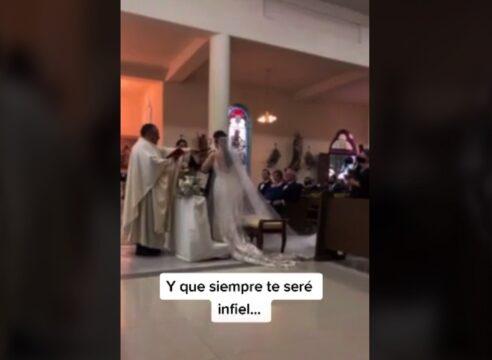 """""""Siempre te seré infiel"""". Novio se equivoca en su boda. ¿Qué pasó ahí?"""