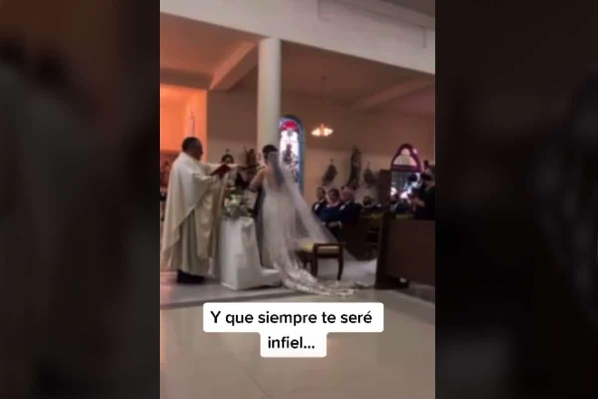 Novio comete grave error en su boda.