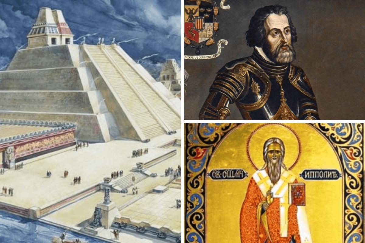 La caída de Tenochtitlán fue un 13 de agosto de 1521 por la tarde, día de San Hipólito, a quien designaron patrono de la Ciudad de México.