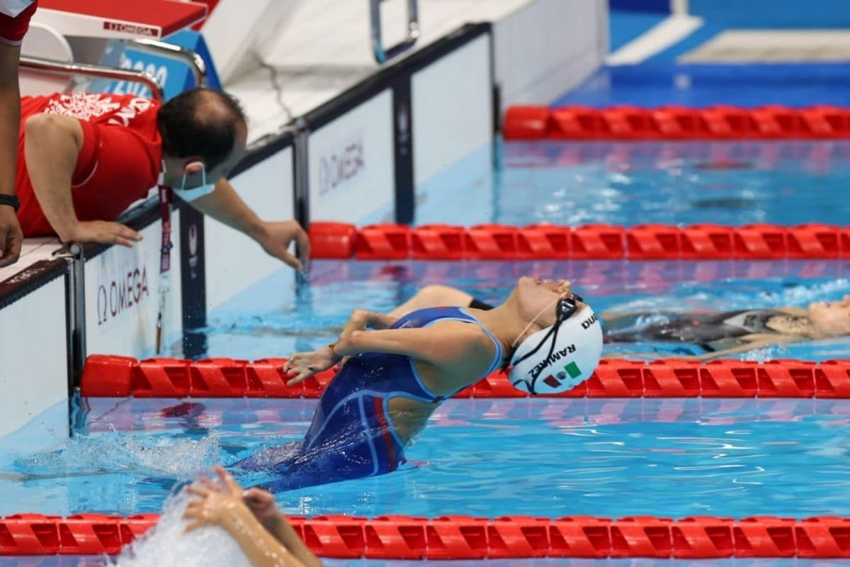 Fabiola Ramìrez en su competencia. Foto: CONADE