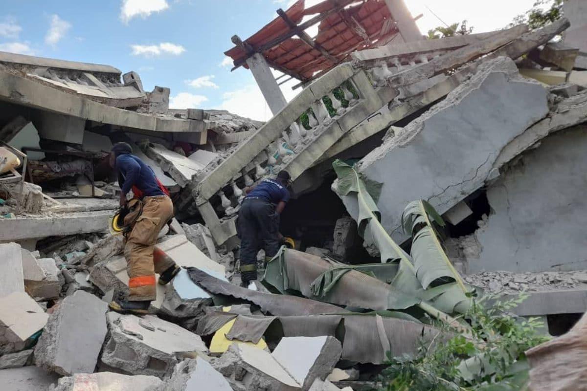 Sismo en Haití. Foto: @Pwoteksyonsivil