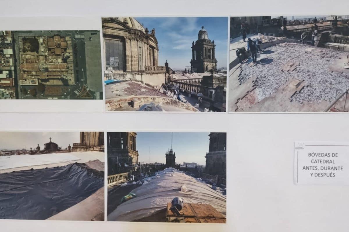 Reparación de las cúpulas y eliminación de flora nociva. Fotografías de la exposición de Catedral.
