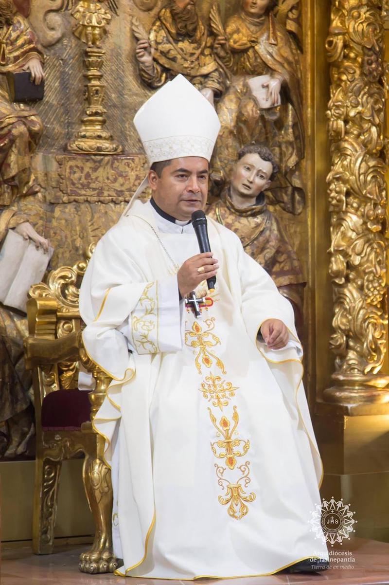 Mons. Jorge Cuapio. Foto: Arquidiócesis de Tlalnepantla