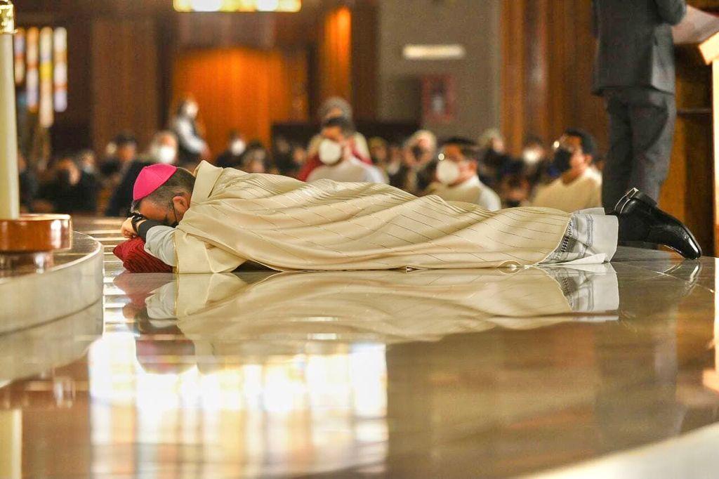 Monseñor Andrés Luis García Jasso, nuevo Obispo Auxiliar de la Arquidiócesis de México. Foto: Jonathan Oregon.