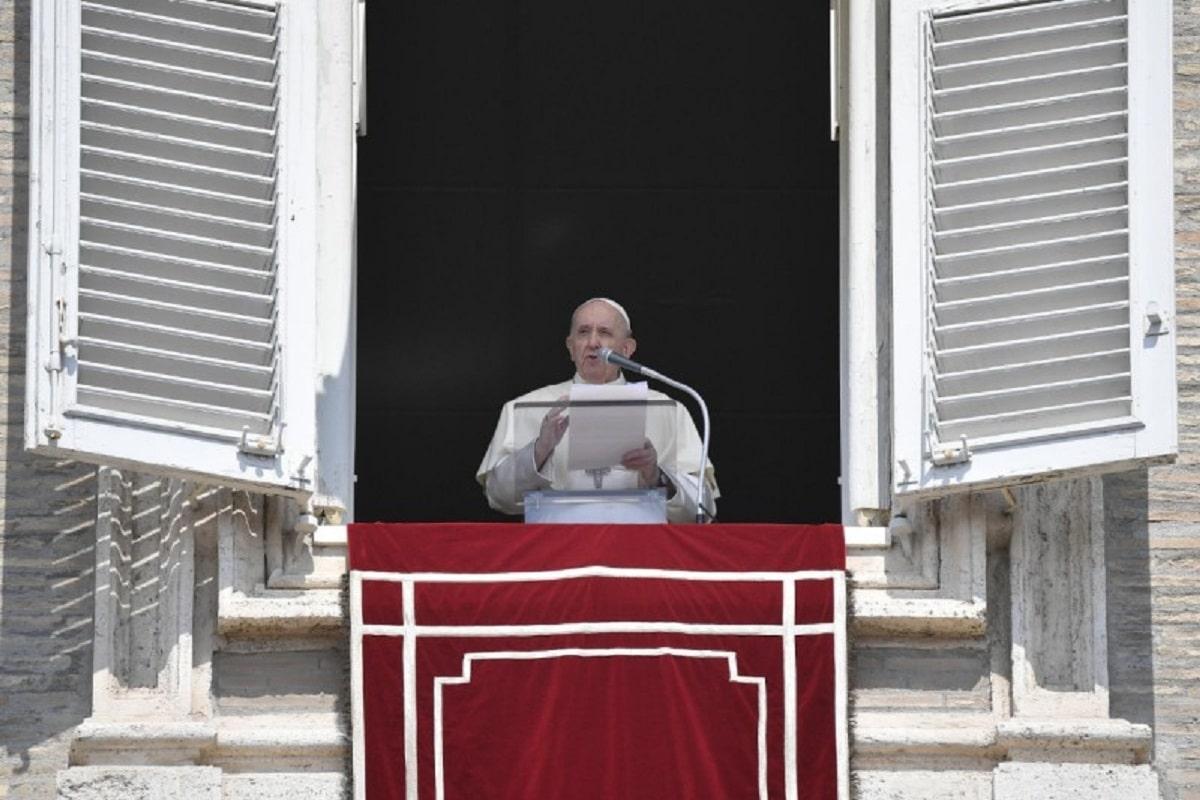 El Papa Francisco en el Ángelus de este 22 de agosto de 2021. Foto: Vatican Media.