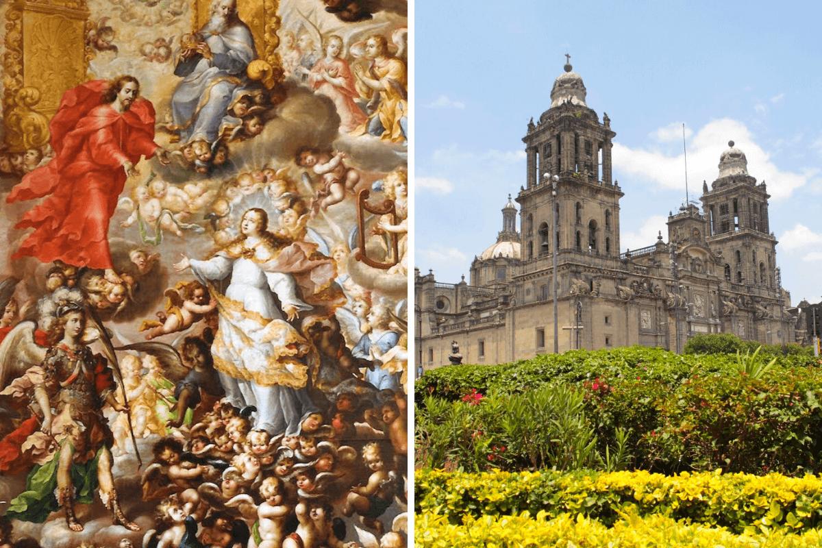En la Catedral de México existe una pintura de la Asunción de María, realizada por Juan Correa.