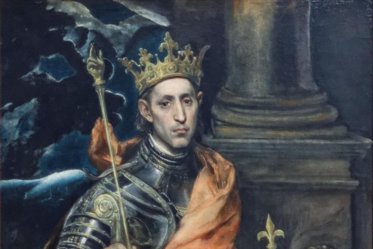 San Luis Rey de Francia, pintado por El Greco.