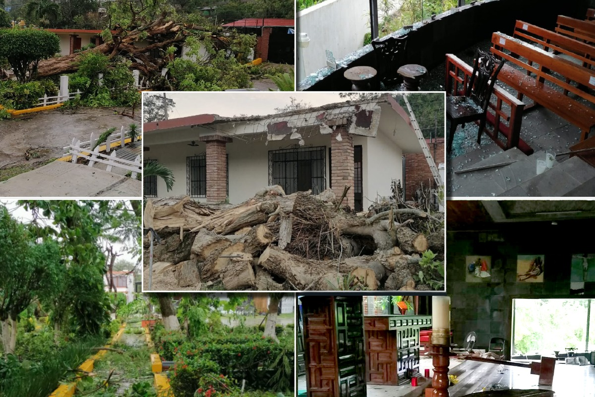 El huracán Grace deja graves daños en el Seminario Menor de Papantla