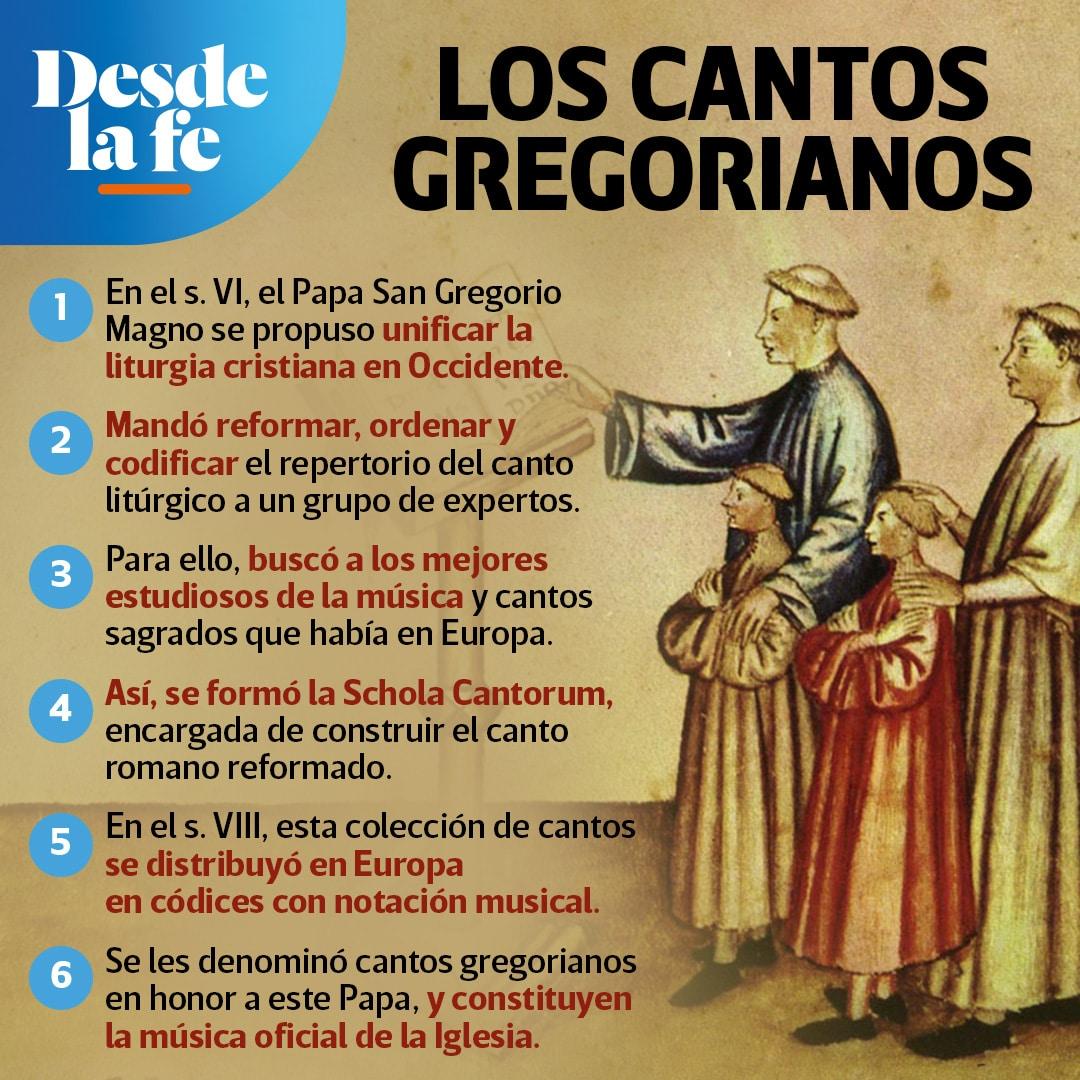 Cantos gregorianos.