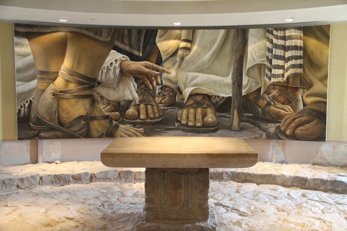 La hemorrisa, pintura de Daniel Cariola /Magdala Tierra Santa