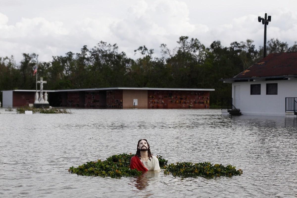 Inundaciones en Luisiana, Estados Unidos, por el Huracán Ida. Foto: Edmund D. Fountain/New York Times