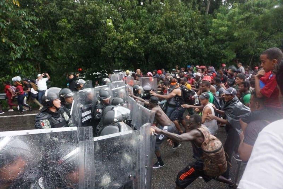 Migrantes en Tapachula. Foto: @ElOrbe_