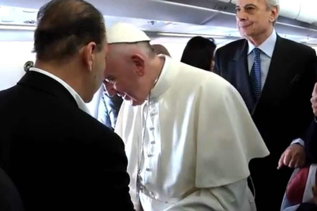 El Sumo Pontífice platicó con cada uno de los reporteros durante su viaje a México en 2016