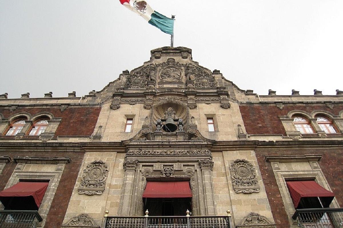 La Campana de Dolores en Palacio Nacional. Foto: @Centro_CDMX