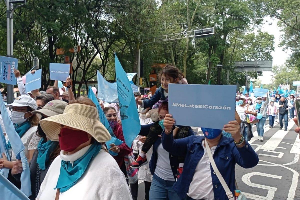 Marcha a favor de la mujer y de la vida. Foto: Alejandro García/Desde la fe