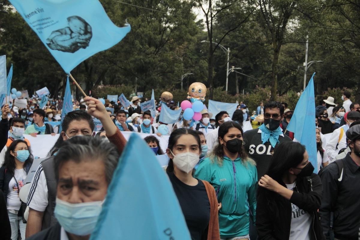 La marcha 'A favor de la mujer y la vida' se realizó este 3 de octubre. Foto: Alejandro García/Desde la fe