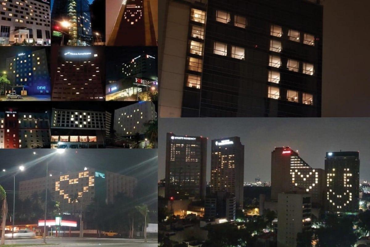 Los hoteles del país enviaron un mensaje de fe.